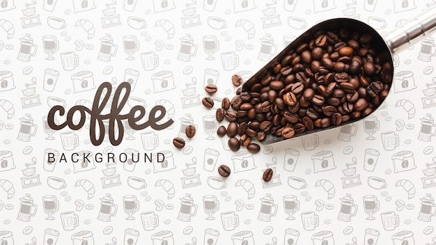 Simple wallpaper with coffee beans