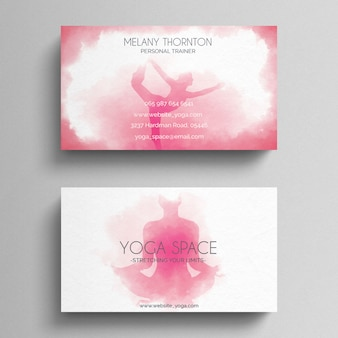 Simple Yoga Business Card Template