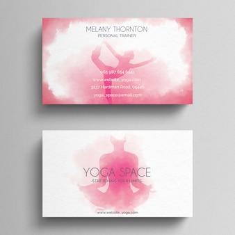 Шаблон визитной карточки simple yoga