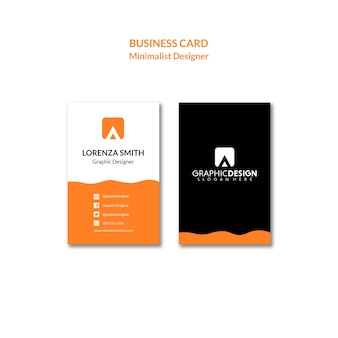 Simplistic concept of an identity business card