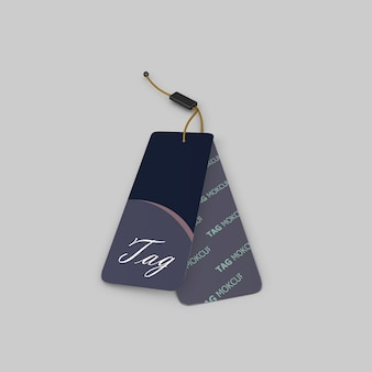 Simply elegant cloth tag mockup