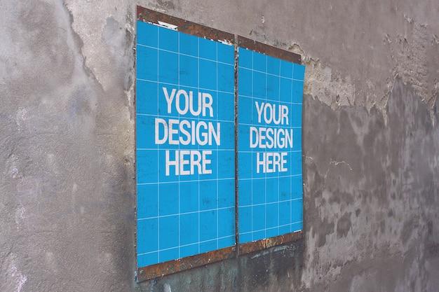 Simply wall poster mockup
