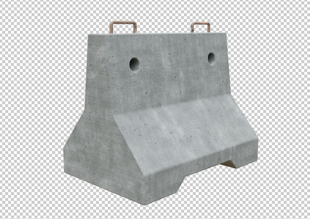 Одиночный бетонный барьер для движения