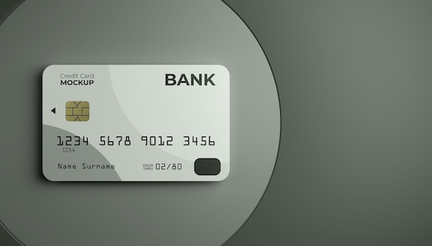 Макет одной кредитной карты на фоне сцены.