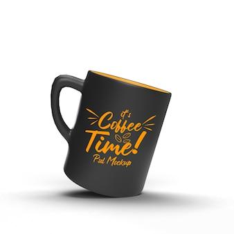 Один doff пить кофе напиток кофе реалистичный изолированный летающий макет