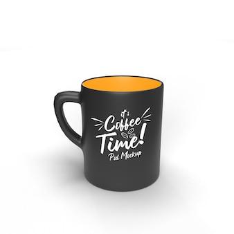 Один doff пить кофе напиток кофе реалистичный изолированный макет