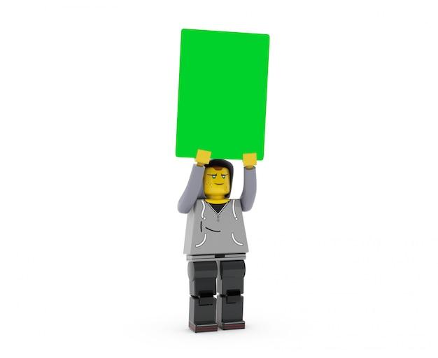 Одинокий мужской баннер psd макет
