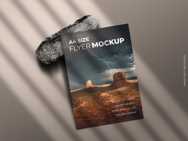 Single page flyer or brochure or leaflet mockup