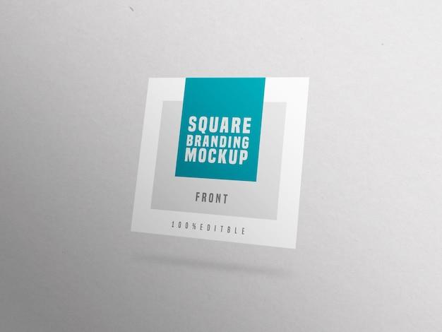 Mockup di biglietto da visita quadrato singolo