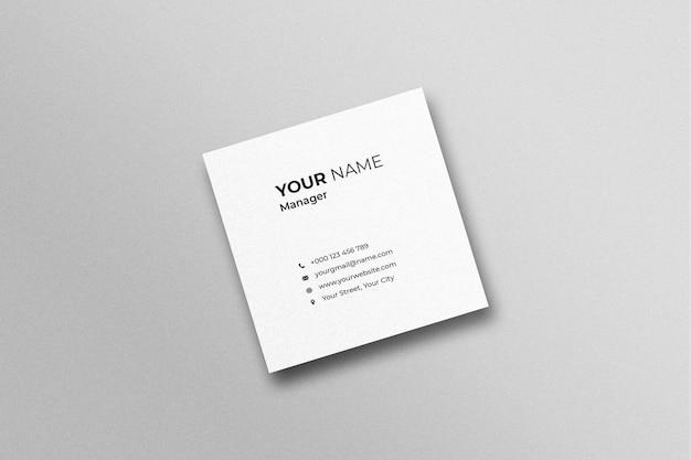 Single square business card mockup