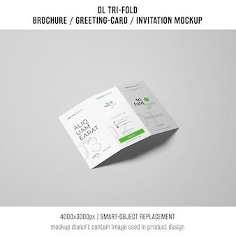 Single trifold brochure or invitation mockup