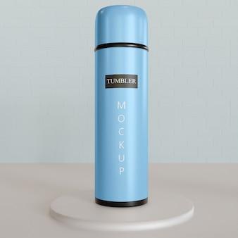 Single tumbler or vacuum flask mockup