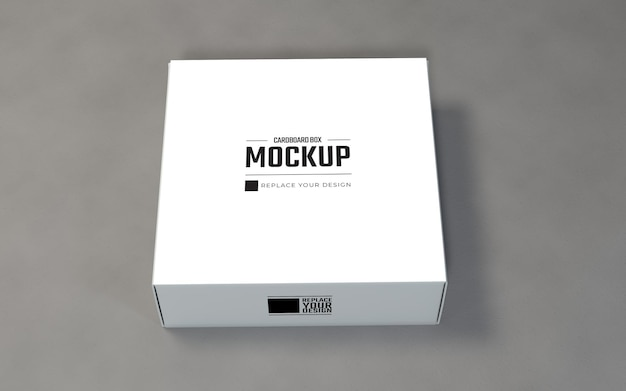 Single white cardboard boxes mockup template