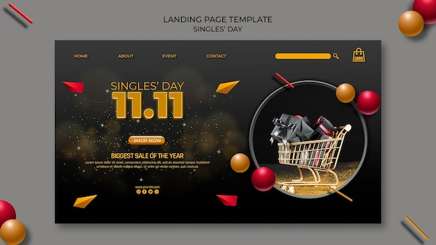 Singles day landing page template