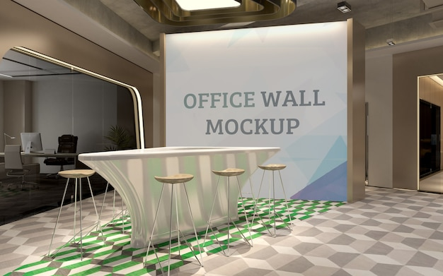 Sit back to relax and chat after stressful working hours wall mockup