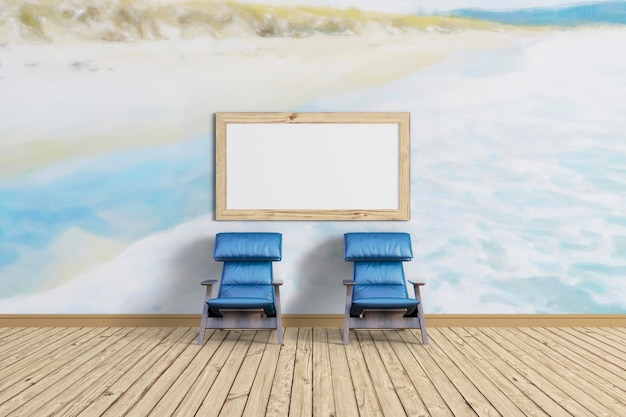 Sit down and relax and mockup frame