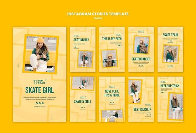 Skate concept instagram stories template