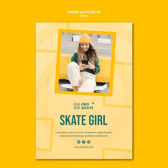 Skate concept poster template