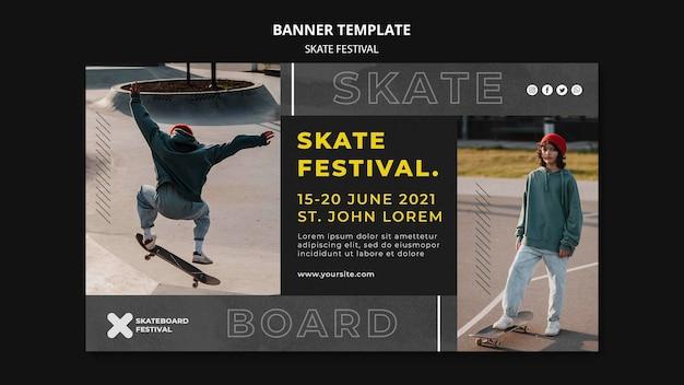 Modello di banner festival skate ska