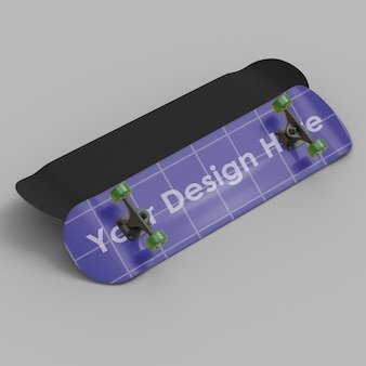 Skateboard 3d mockup design isolated