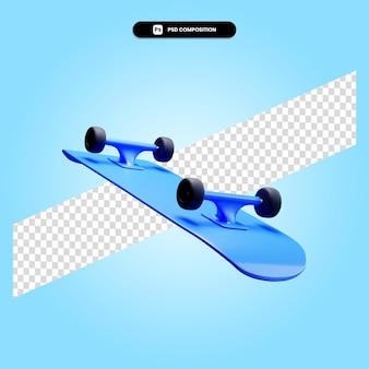Скейтборд 3d визуализации изолированных иллюстрация