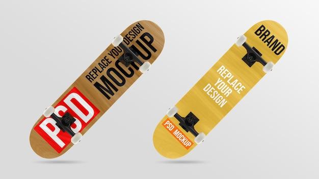 スケートボードの3dレンダリングモックアップデザイン
