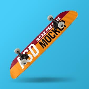 スケートボードの3dレンダリングモックアップデザイン Premium Psd