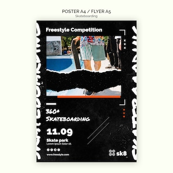 스케이트 보드 컨셉 포스터 템플릿