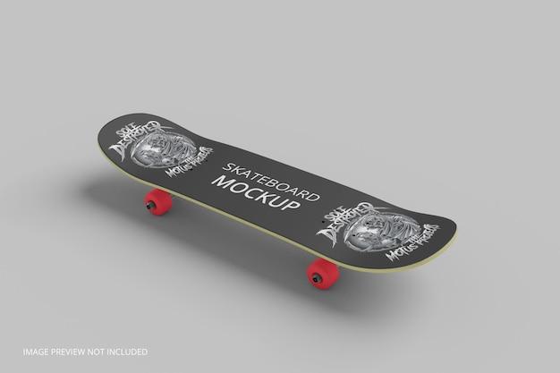 スケートボードのモックアップ3dレンダリング