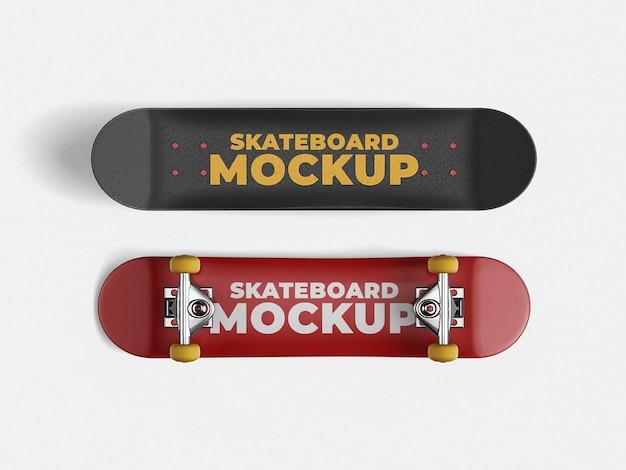 スケートボードのモックアップテンプレート