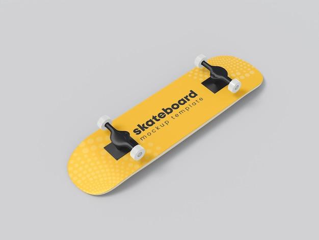 Mockup di involucro in vinile per skateboard