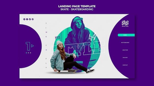 Skateboarding homepage template
