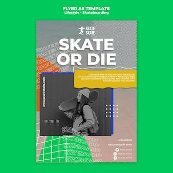 Skateboarding lifestyle a5 flyer template