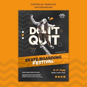 Modello di stampa skateboard con foto