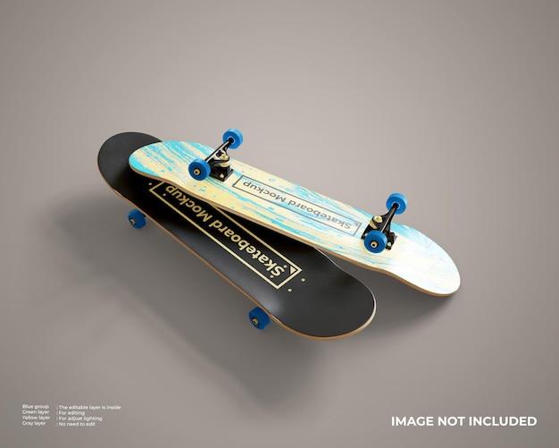 Skateboards mockup