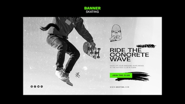 Skating ad banner template