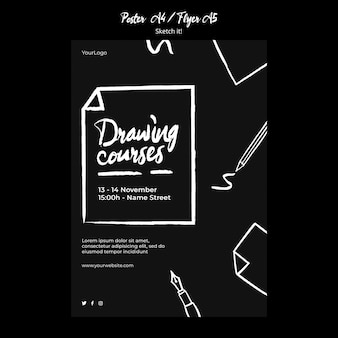 Sketch concept flyer template