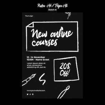 Sketch concept flyer template