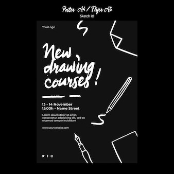 Sketch concept poster template