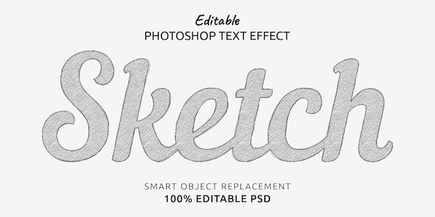 Sketch editable text style effect