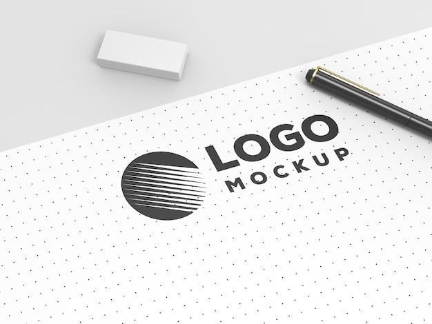 스케치 로고 모형 디자인
