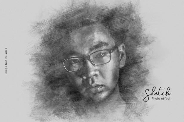 Sketch photo effect Premium Psd