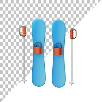 Лыжные 3d иллюстрации