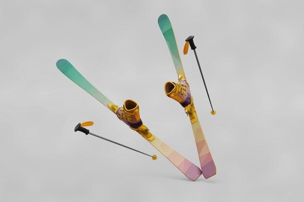 Ski mockup