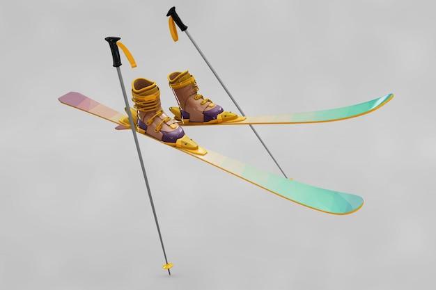 Лыжный макет
