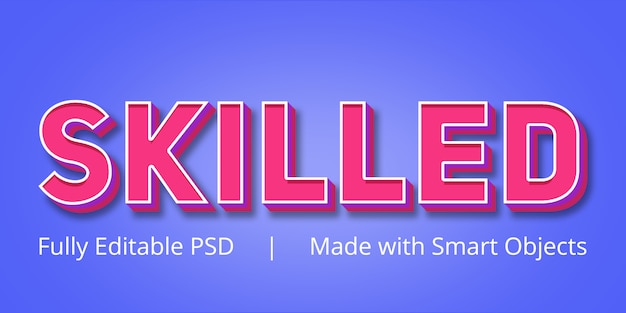 Skilled editable text style effect