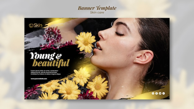 Skin care banner template