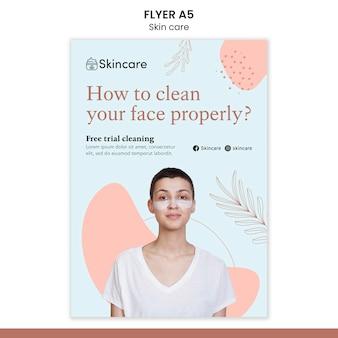 Skin care flyer template design