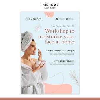 Modello di poster per la cura della pelle