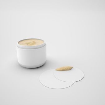 Skin cream container